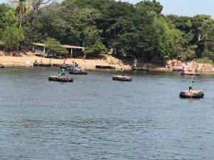 rafters ferrying migrants across the Suchiate River