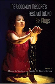 Cover of Goodman Theatre's Festival Latino with woman arms extended.