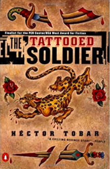 Book cover of the novel, The Tatooed Solldier