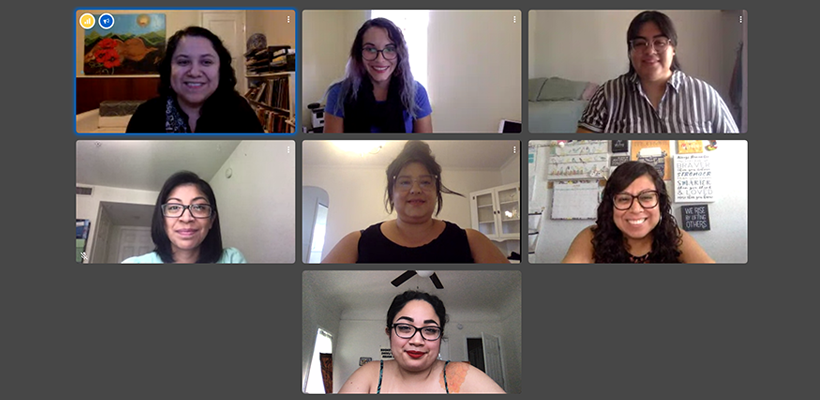 Screen capture of the article authors in a video conference